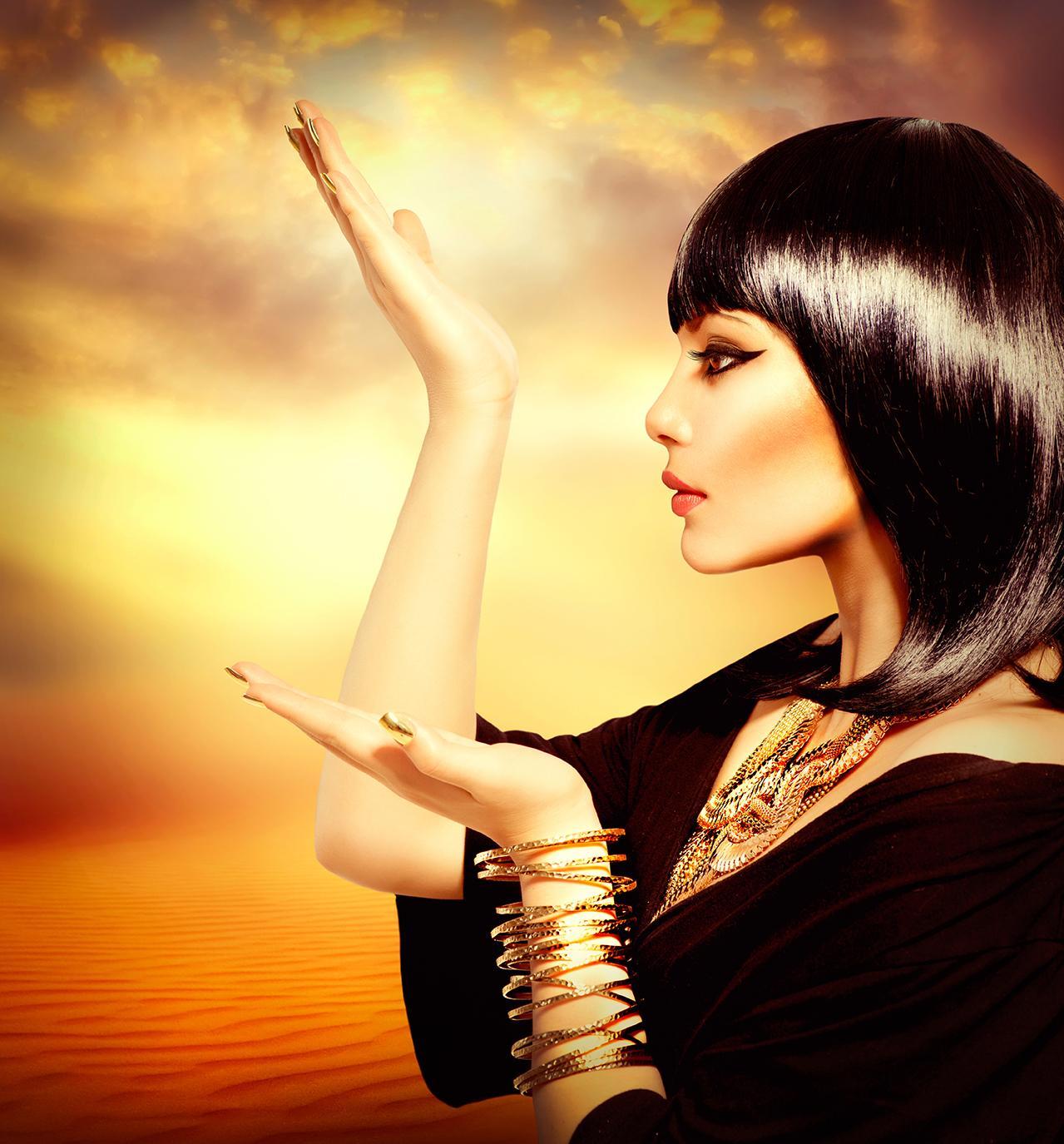 ägyptische Frau von der Seite