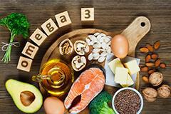 Nahurngsmittel mit viel Omega drei Fettsäuren